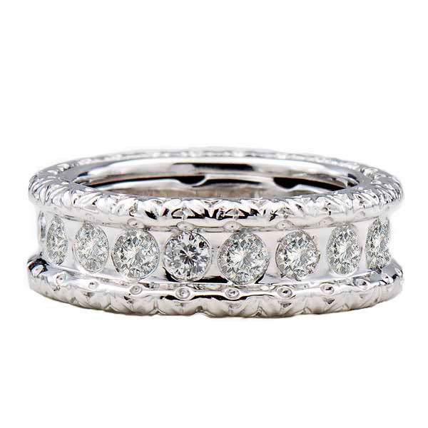 Roberto Coin Cento Florentine Diamond Eternity White Gold Band