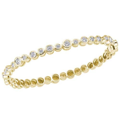 Roberto Coin Cento Frizzante 18kt Yellow Gold Diamond Bangle Bracelet