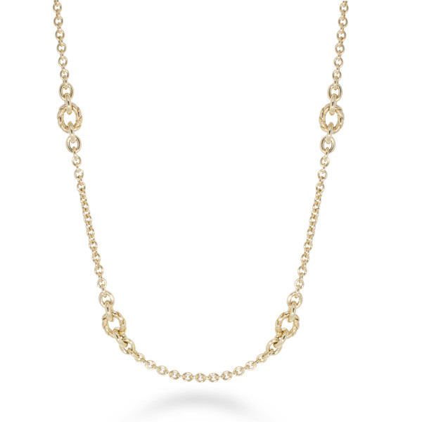 Roberto Coin Yellow Gold 4 Station Necklace