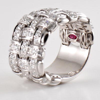 Roberto Coin Appassionata 18kt White Gold Diamond Ring