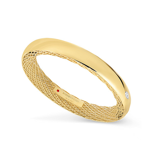 Roberto Coin Golden Gate Diamond Bangle