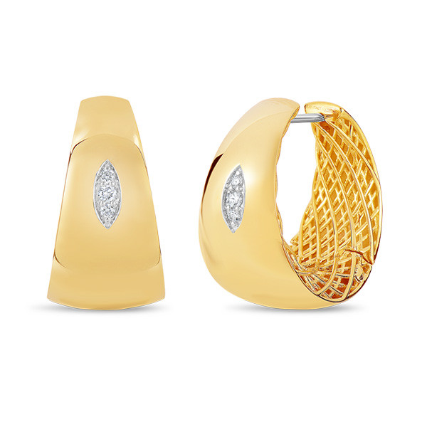 Roberto Coin Golden Gate Diamond Earrings