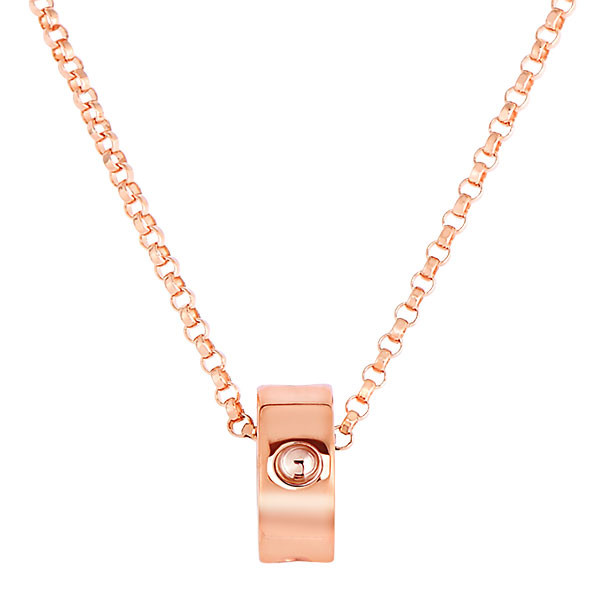 Roberto Coin Symphony Pois Moi Rondel Rose Gold Pendant