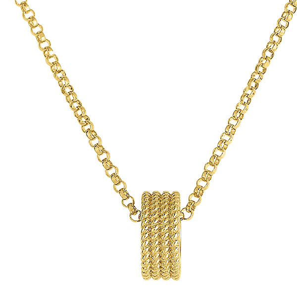 Roberto Coin Symphony Barocco Rondel Yellow Gold Pendant