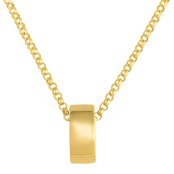 Roberto Coin Symphony Golden Gate Rondel Yellow Gold Pendant