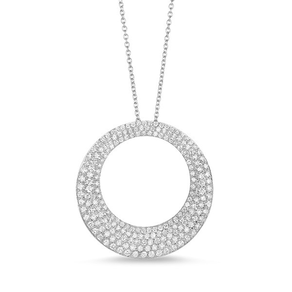 Roberto Coin Scalare Diamond Pendant Necklace