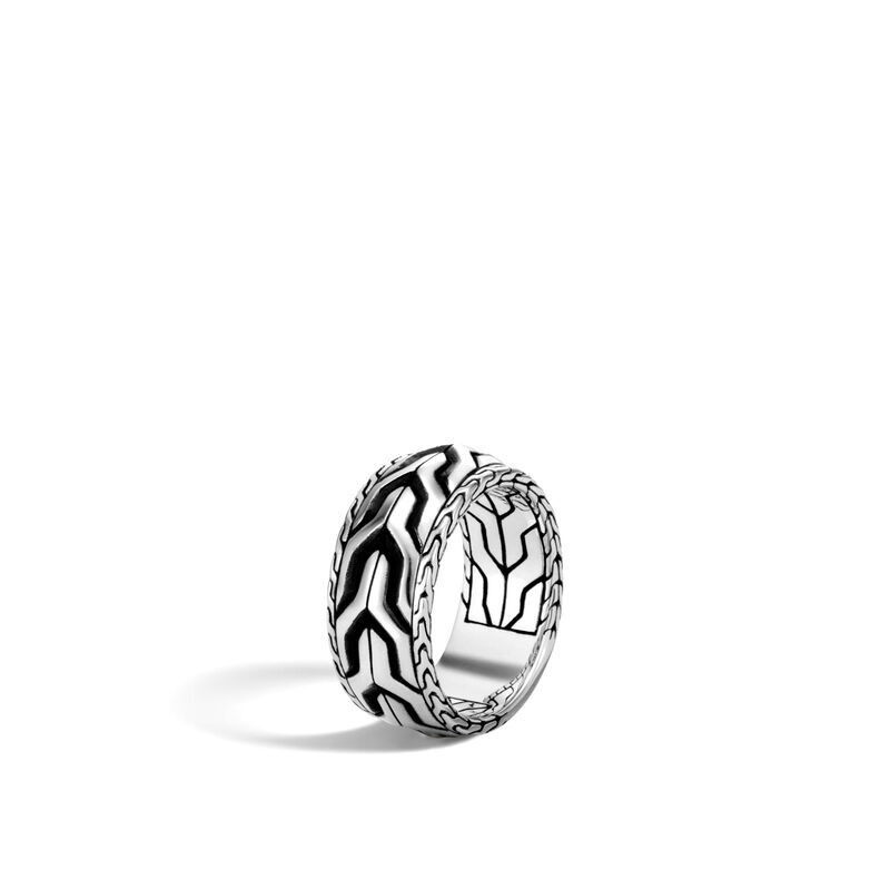 John Hardy Asli Classic Chain Ring in Sterling Silver angle view