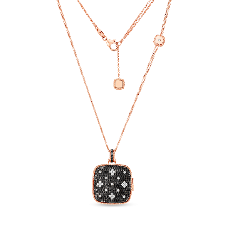 Roberto Coin Venetian Princess Locket Necklace in 18K Gold chain view