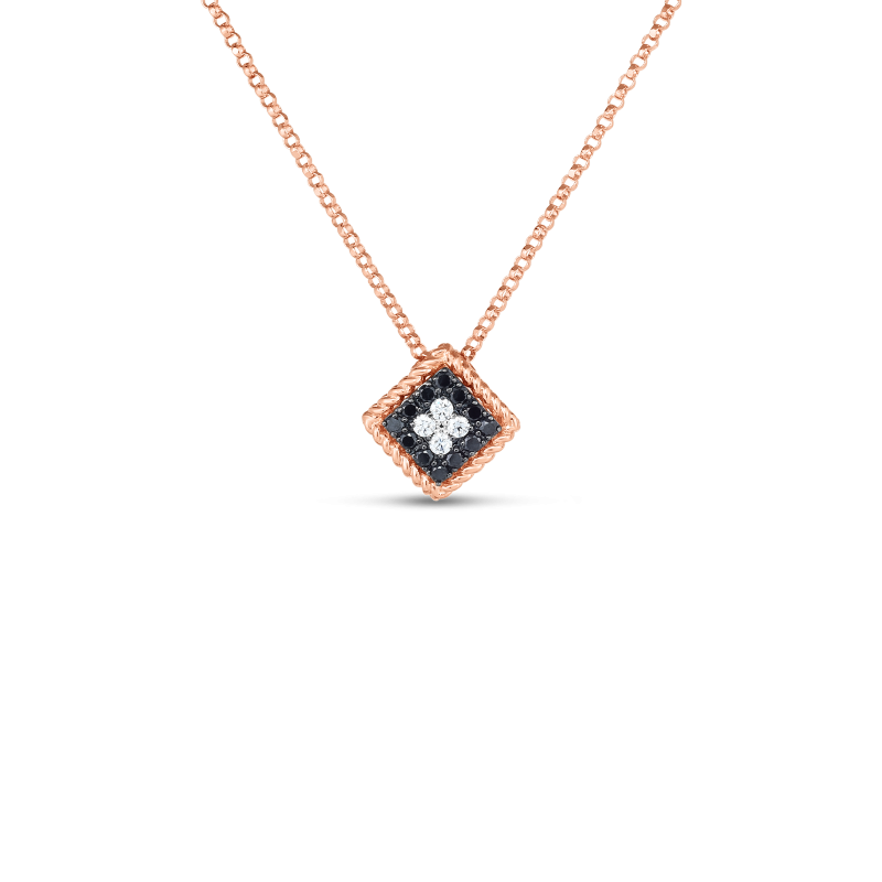 Roberto Coin Palazzo Ducale Diamond Square Necklace front view