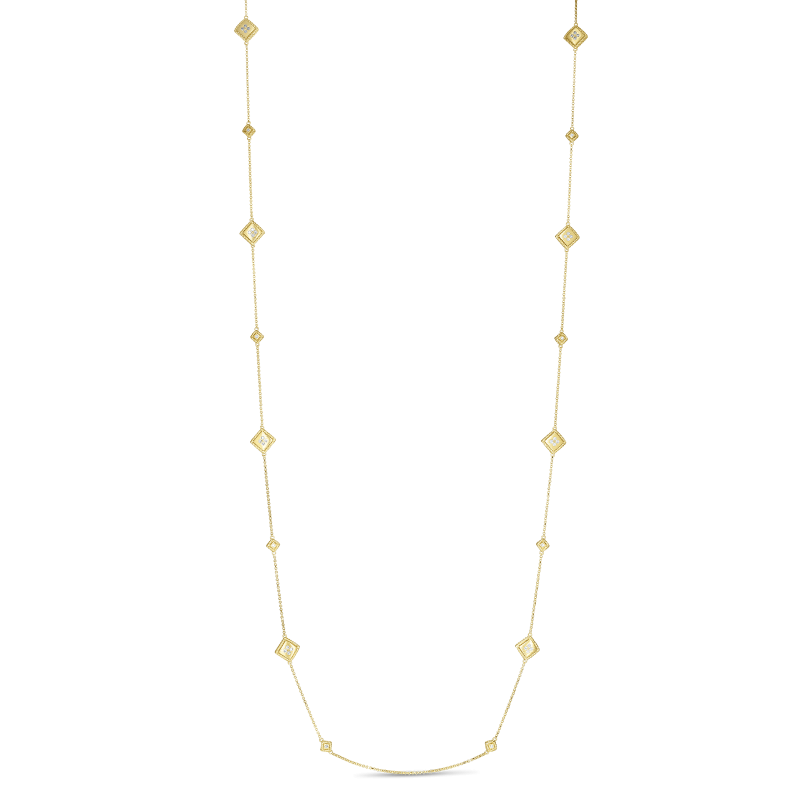 Roberto Coin Palazzo Ducale Diamond Station Necklace full view