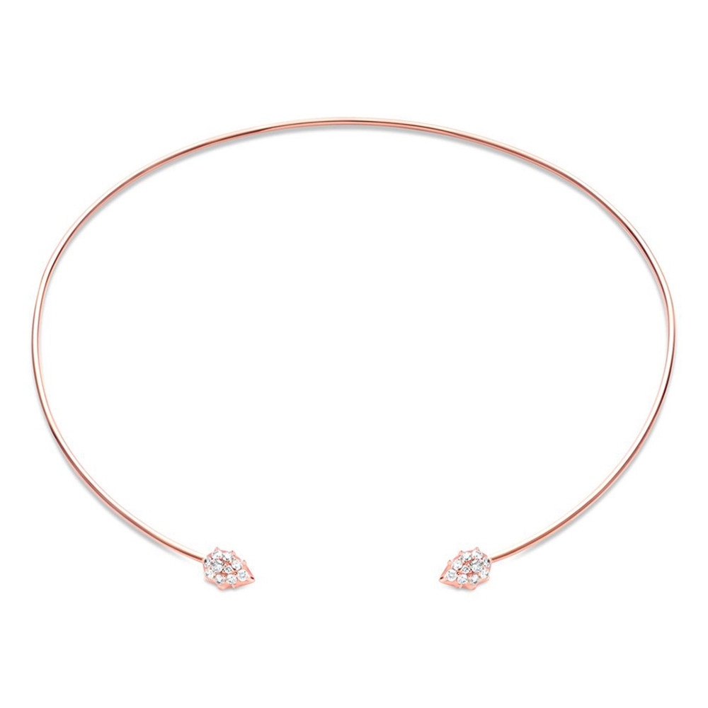 Rose Gold Open Diamond Rosette Collar by Carbon & Hyde