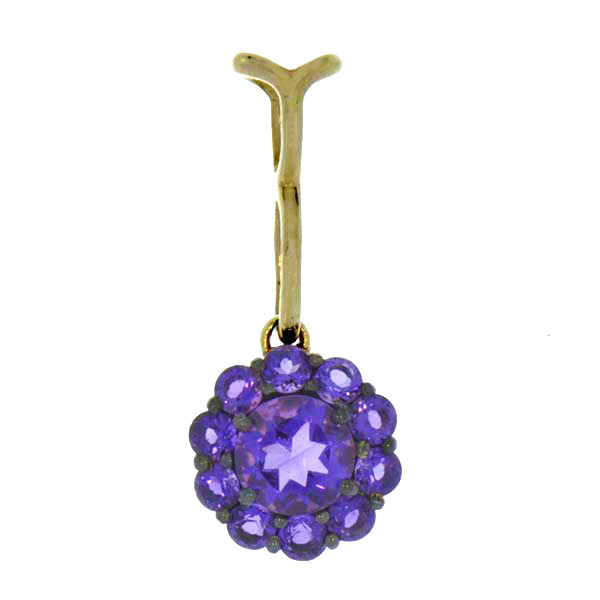 Color My Life Amethyst Long Pendant