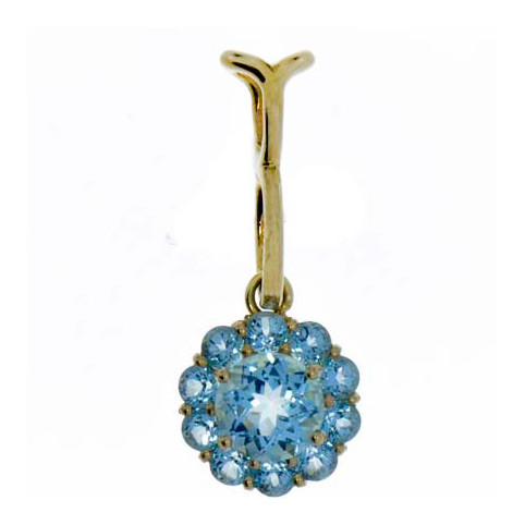 Color My Life Blue Topaz Long Pendant
