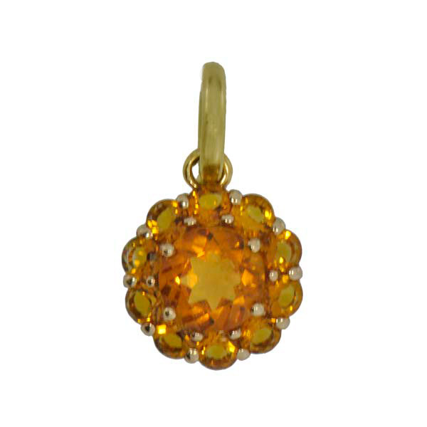 Color My Life Citrine Clasp Bail Pendant