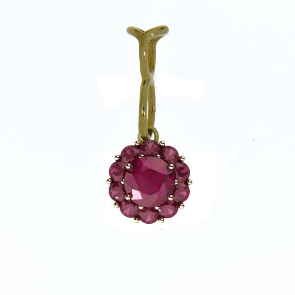 Color My Life Ruby Long Pendant