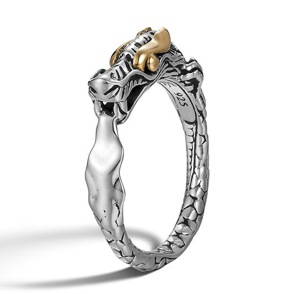 John Hardy Slim Dragon Gold & Silver Naga Ring