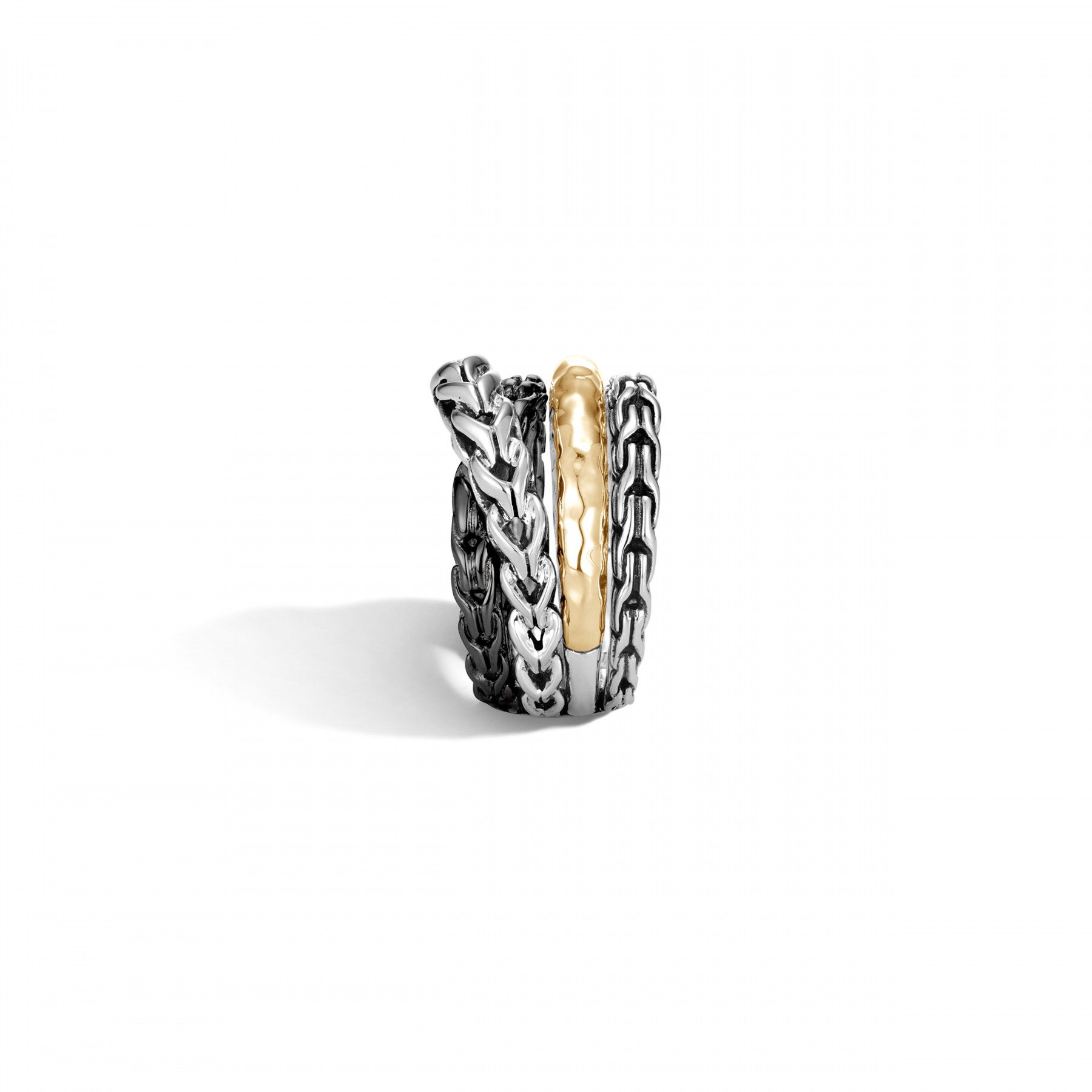 John Hardy Asli Classic Chain Two-Tone Crossover Ring side view