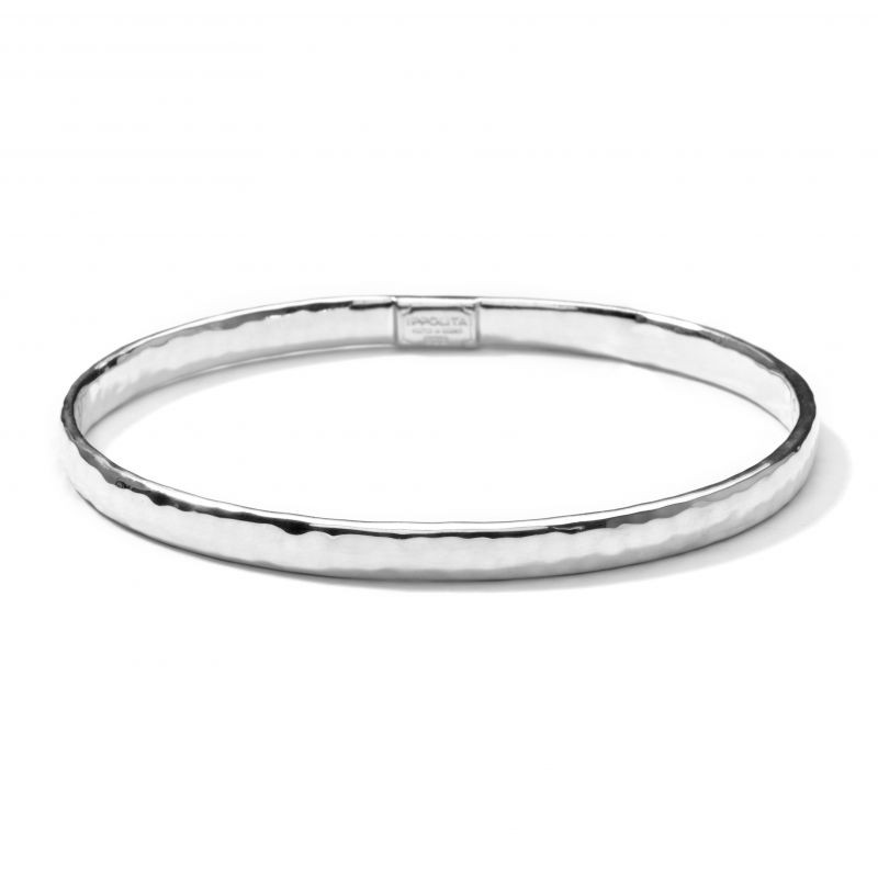 IPPOLITA Silver Classico Hammered Bangle