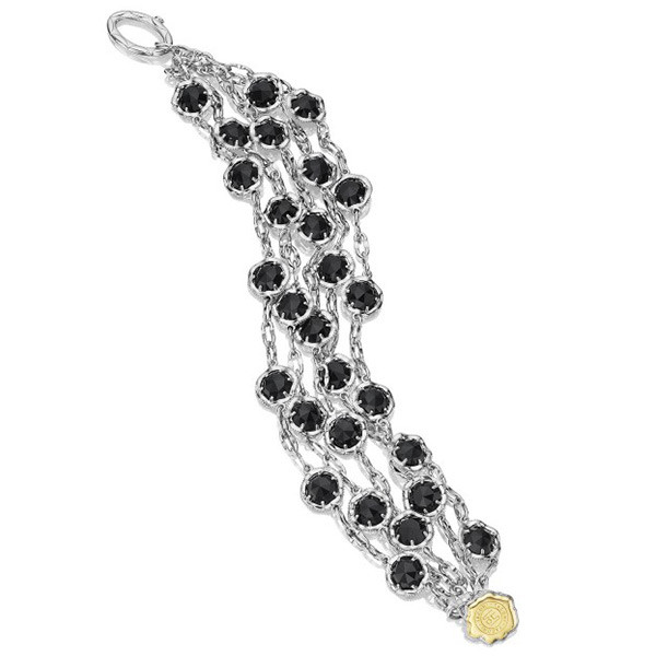 Tacori Black Lightning Five Strand Sterling Silver & Black Onyx Bracelet