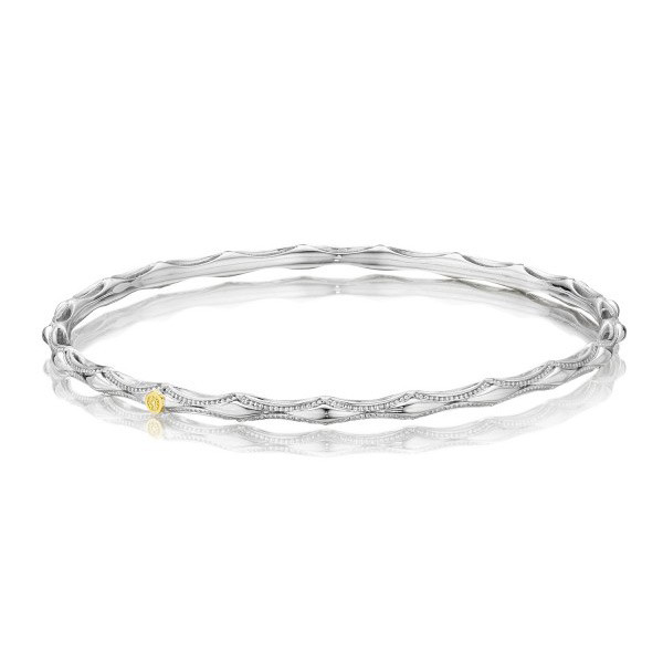 Tacori 18K925 Classic Rock Medium Bangle