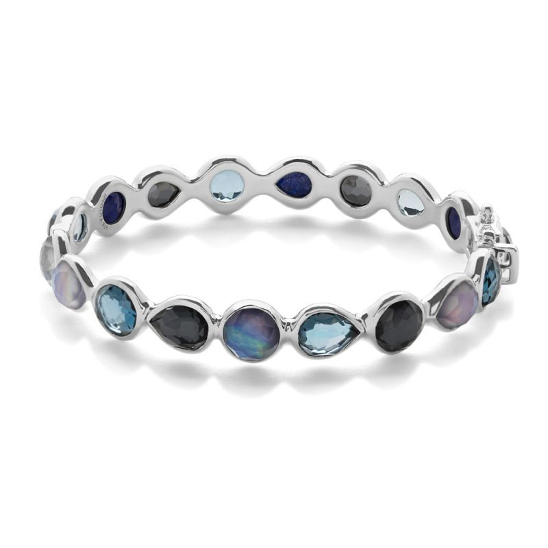 IPPOLITA 925 Silver Rock Candy Eclipse Blue Gemstone Bangle