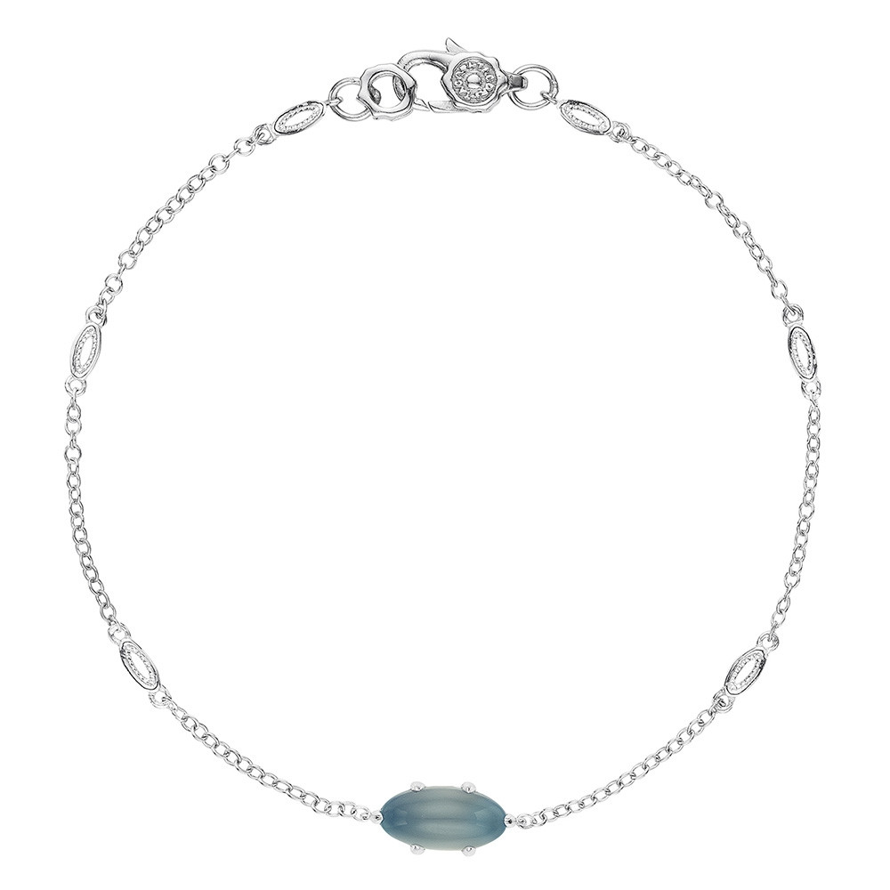 Tacori Sea Green Chalcedony Horizon Shine Oval Station Bracelet