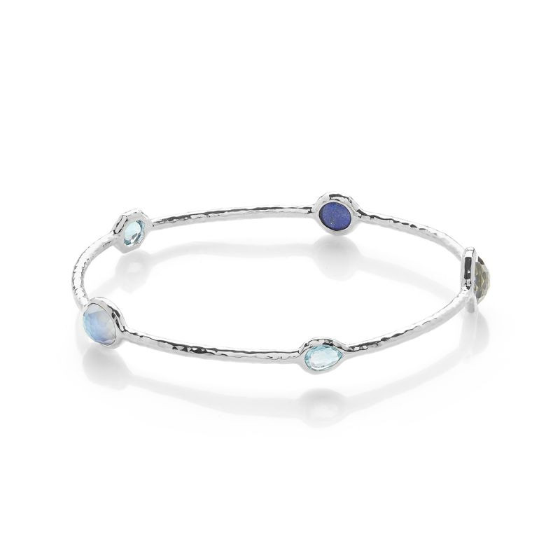 IPPOLITA Silver Rock Candy Eclipse Blue Bangle Bracelet