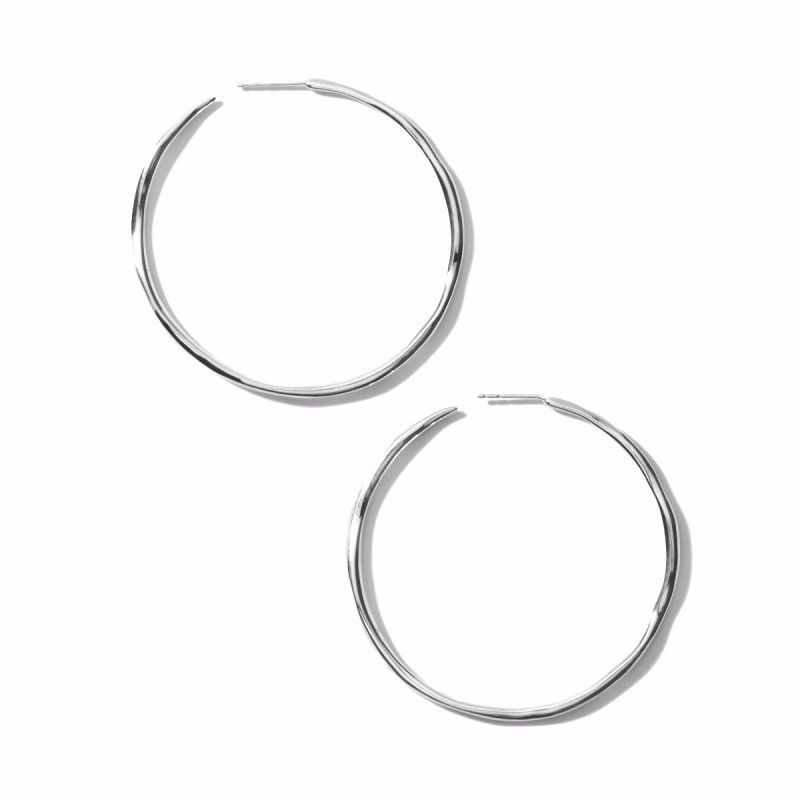 IPPOLITA Silver Classico Squiggle Hoop Earrings flat view