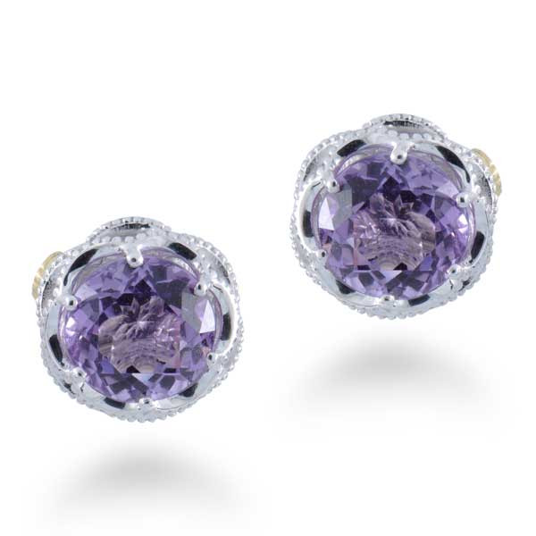 Tacori Purple Amethyst Stud Earrings