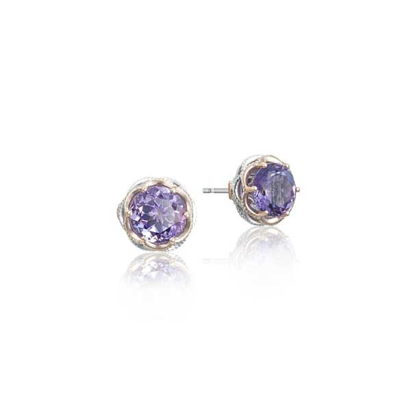 Tacori Lilac Blossoms Amethyst Stud Earrings