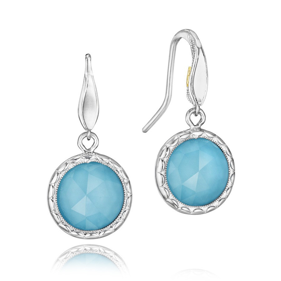Tacori Turquoise Silver Drop Island Rains Earrings