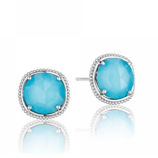 Tacori 18K925 Island Rains Neolite Turquoise Stud Earrings