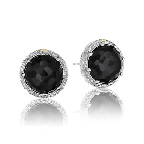 Tacori City Lights Sterling Silver & Black Onyx Stud Earrings