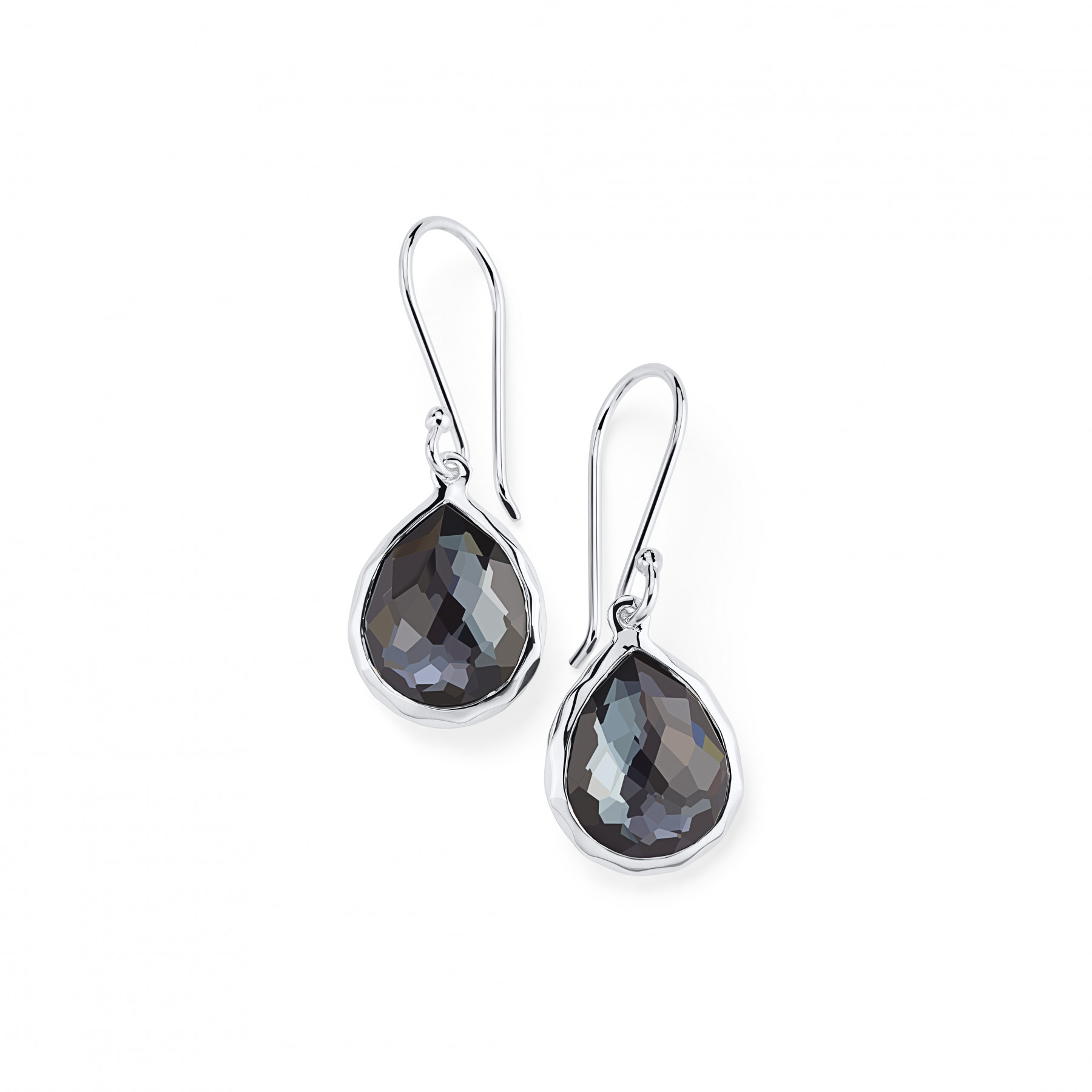 IPPOLITA Silver Rock Candy Mini Hematite Drop Earrings