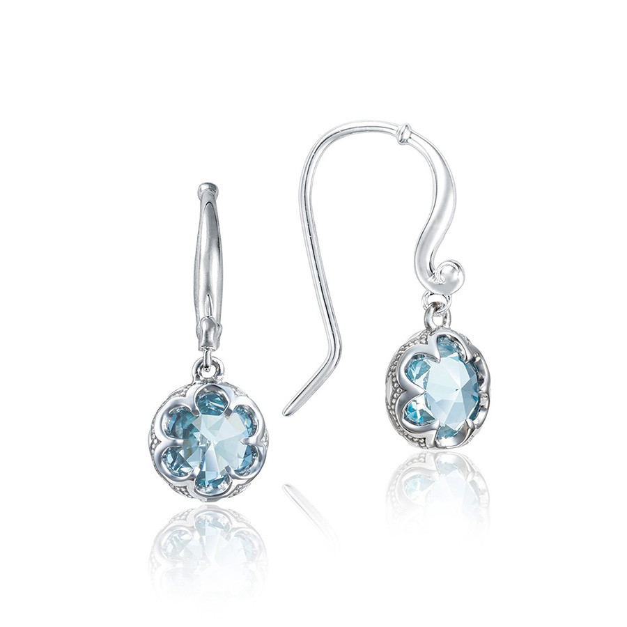 Tacori Petite Crescent Sky Blue Topaz Drop Sonoma Skies Earrings