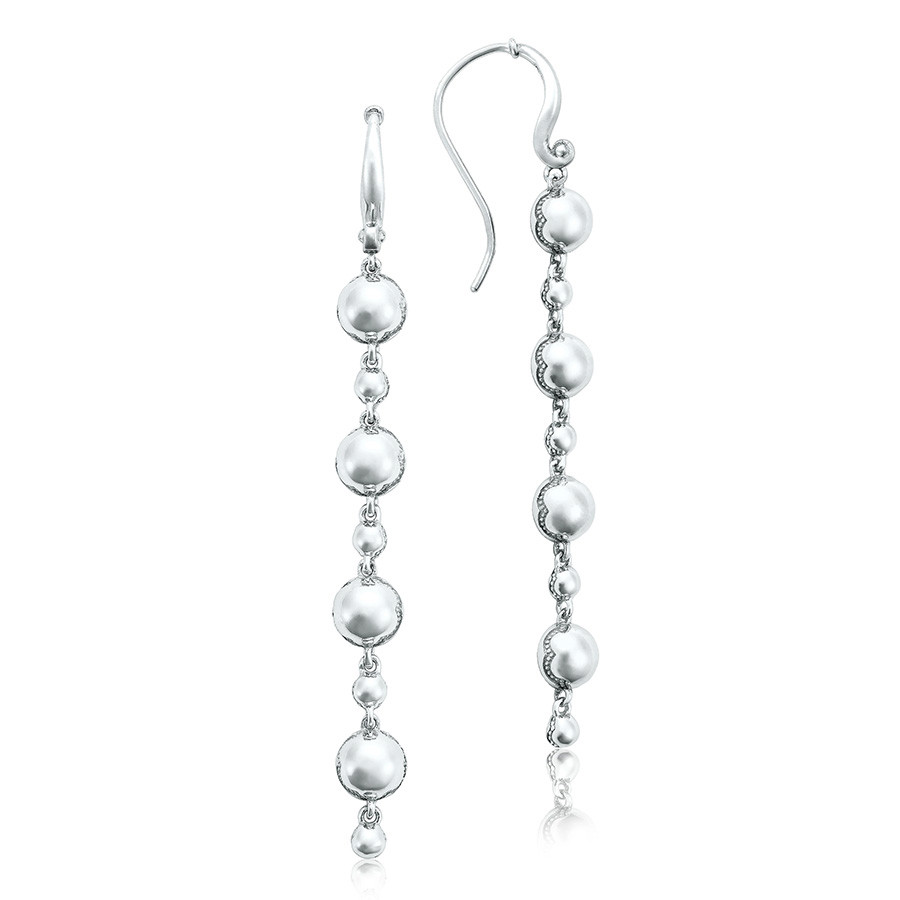 Tacori Silver Dew Drop Line Sonoma Mist Earrings