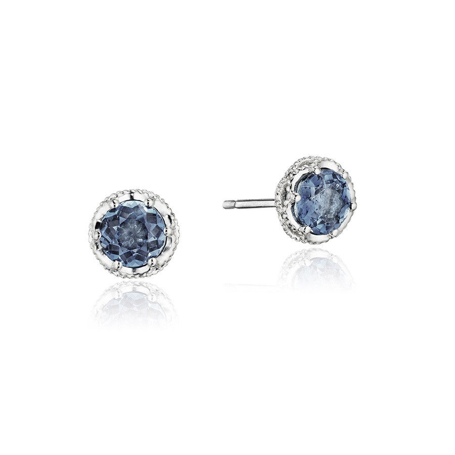 Tacori Petite London Topaz Crescent Crown Island Rains Stud Earrings