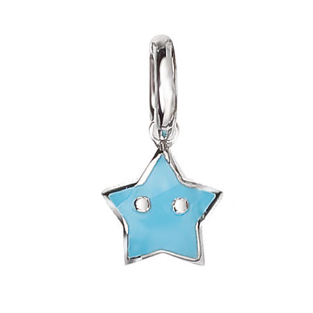 Aaron Basha Mini Blue Star Charm