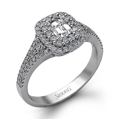 Simon G Passion Double Halo Engagement Ring