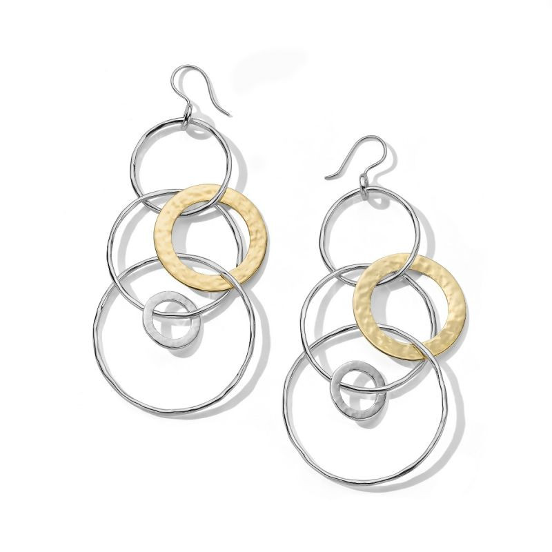 IPPOLITA Chimera Large Hammered Two Tone Oval Drop Earrings