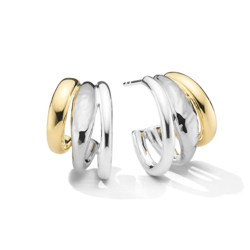 IPPOLITA Chimera Classico Two Tone Multi Hoop Earrings front view