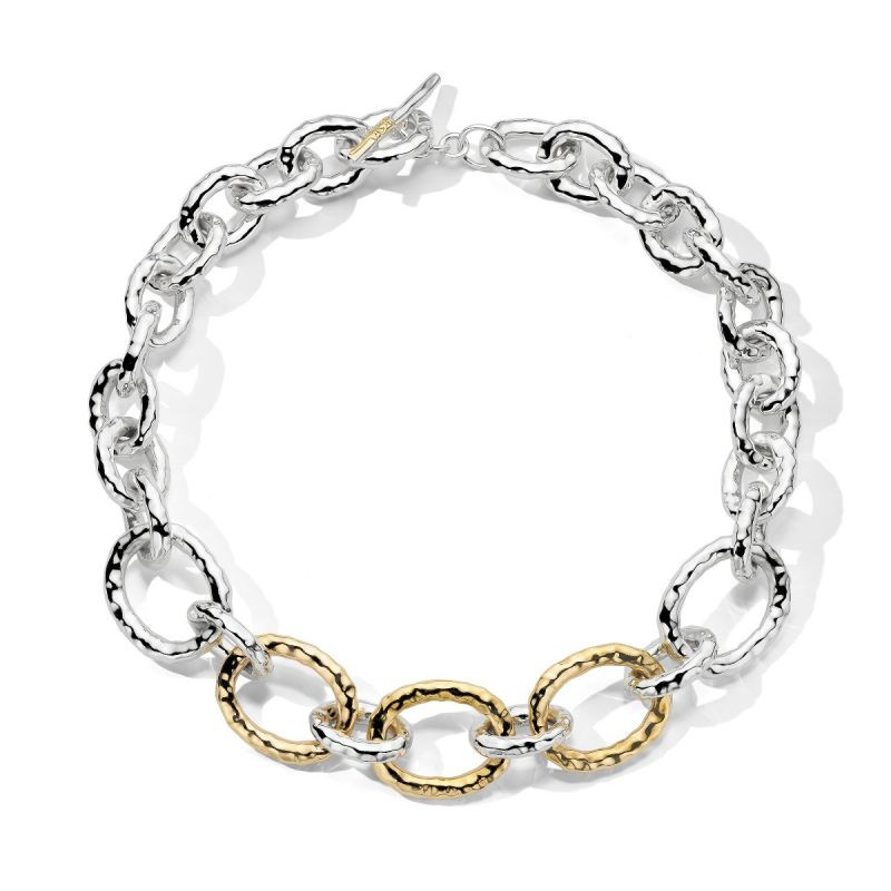 IPPOLITA Chimera Bastille Gold and Silver Link Necklace