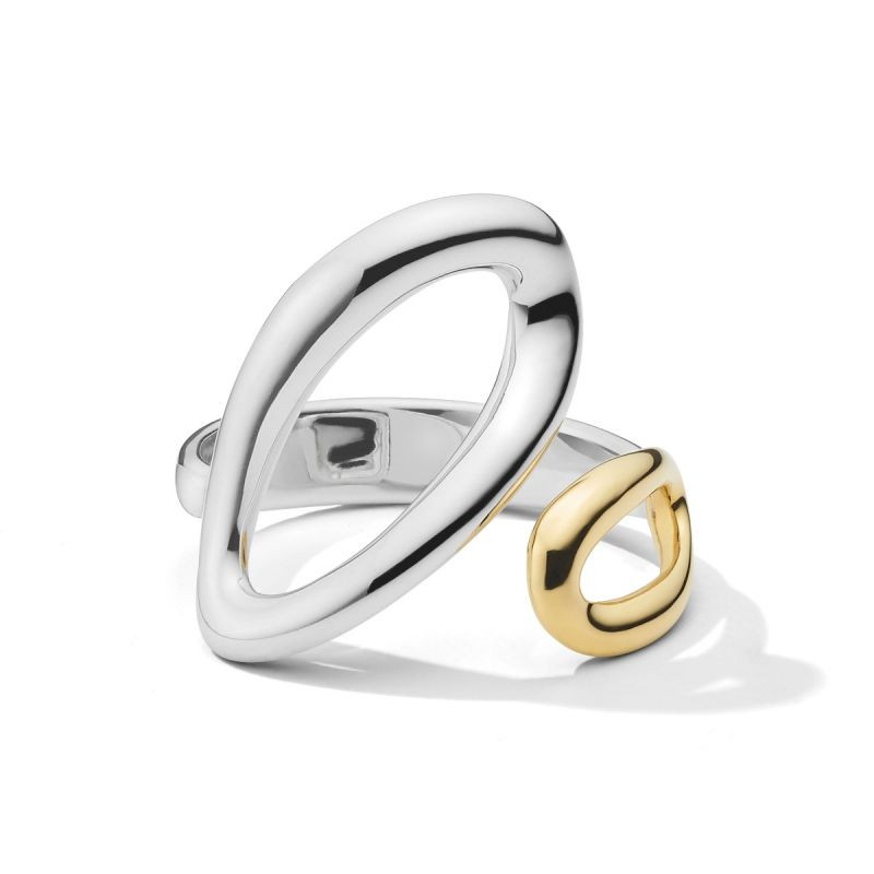 Ippolita Chimera Cherish Silver and Gold Bypass Ring front view