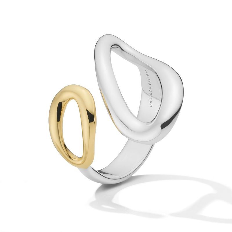 Ippolita Chimera Cherish Silver and Gold Bypass Ring side view