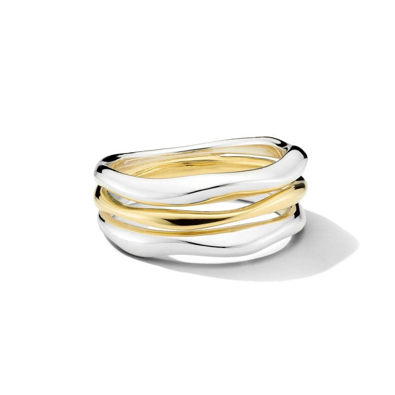 IPPOLITA Chimera Two Tone Stacked Ring front view