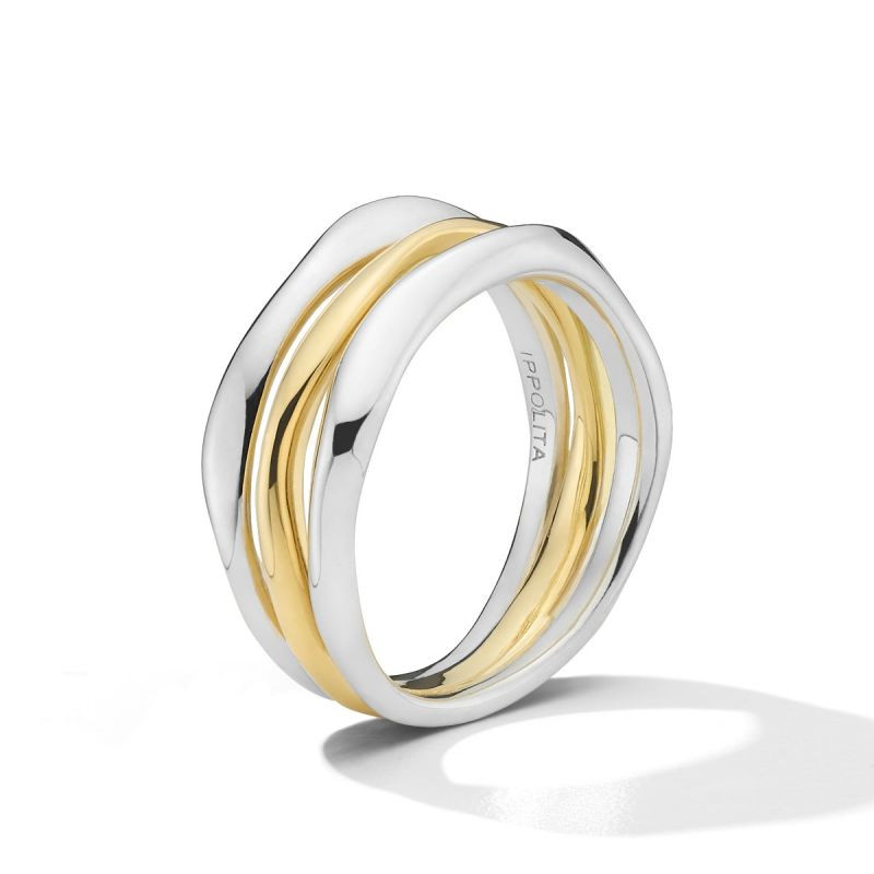 IPPOLITA Chimera Two Tone Stacked Ring side view