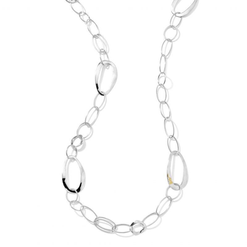 IPPOLITA Classico Silver and Gold Accent Chain Necklace close up