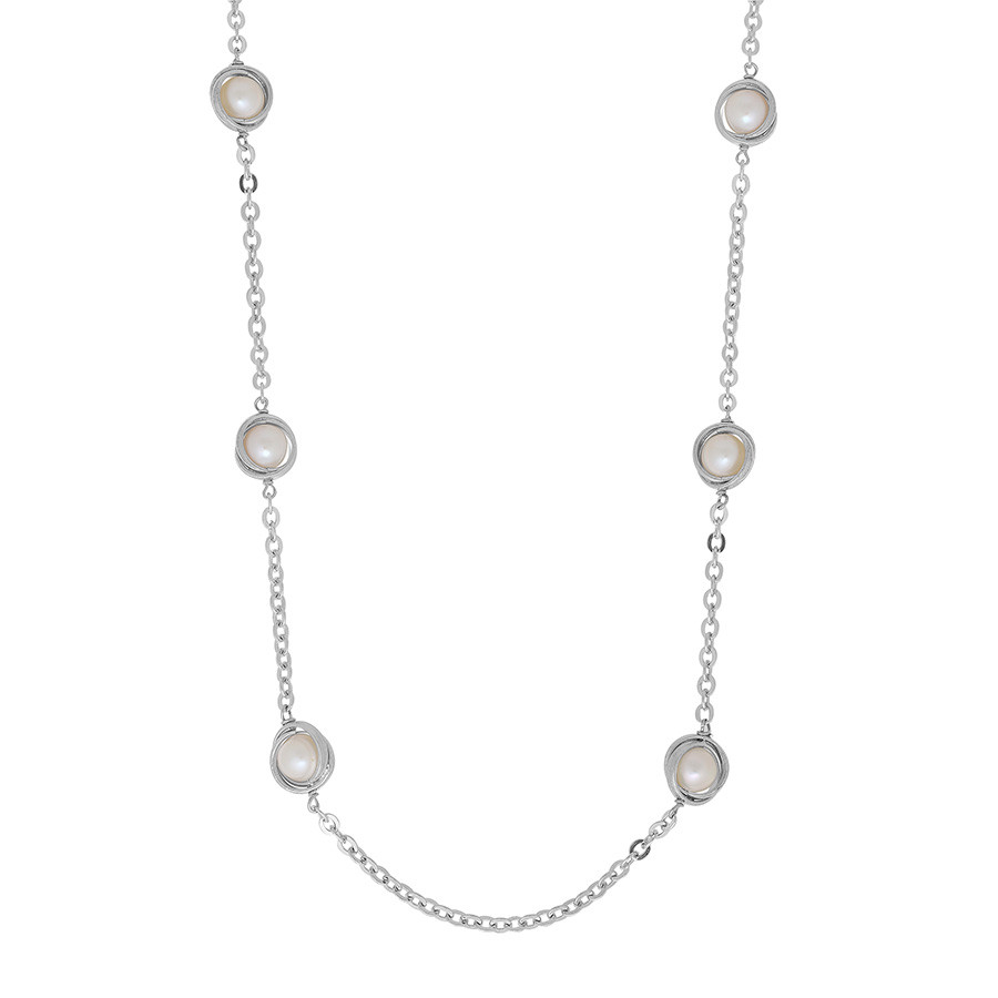 Honora Silver Lining Knot of Love Pearl Tin Cup Space Necklace