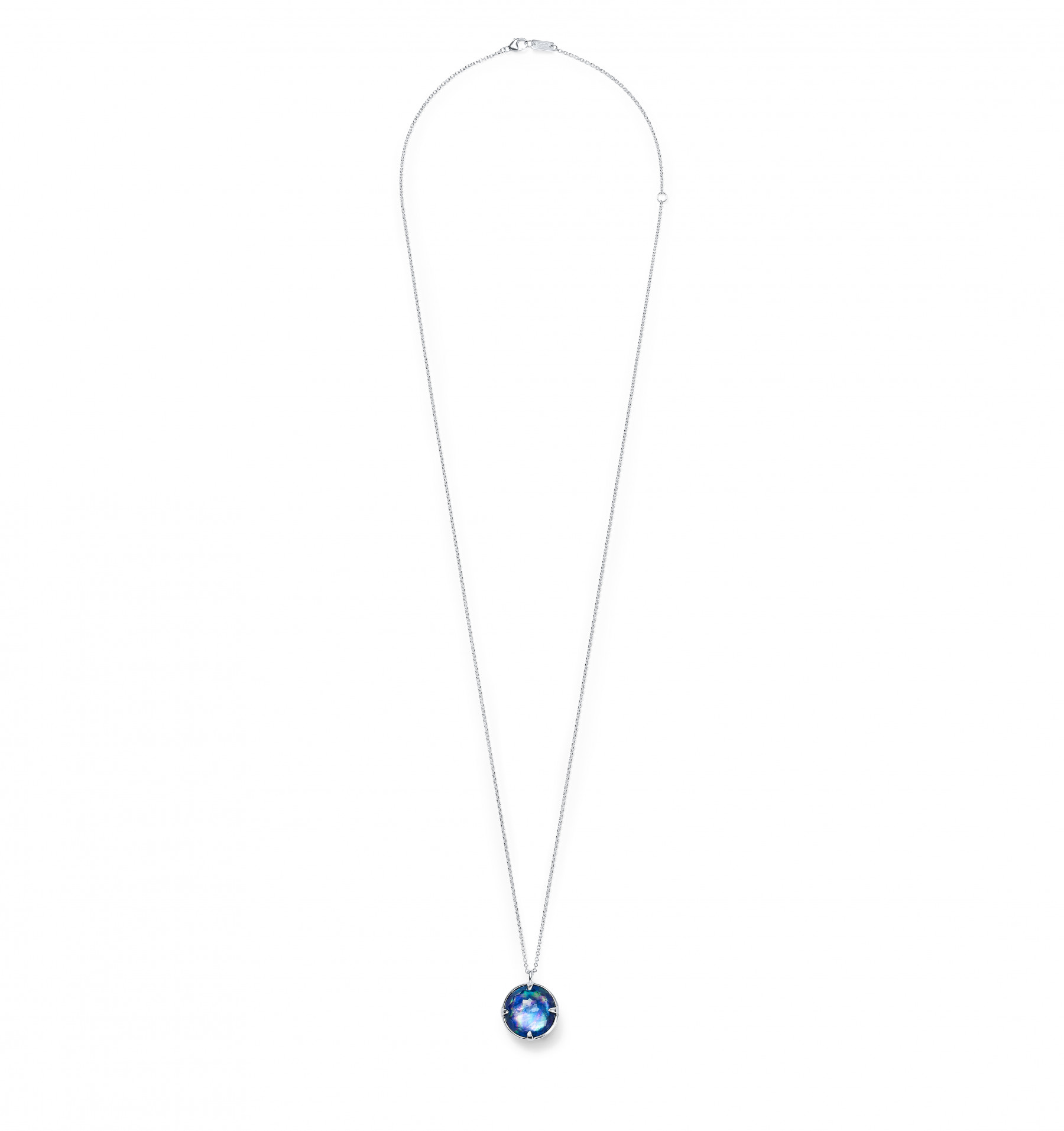 IPPOLITA Silver Rock Candy Round Lapis Necklace