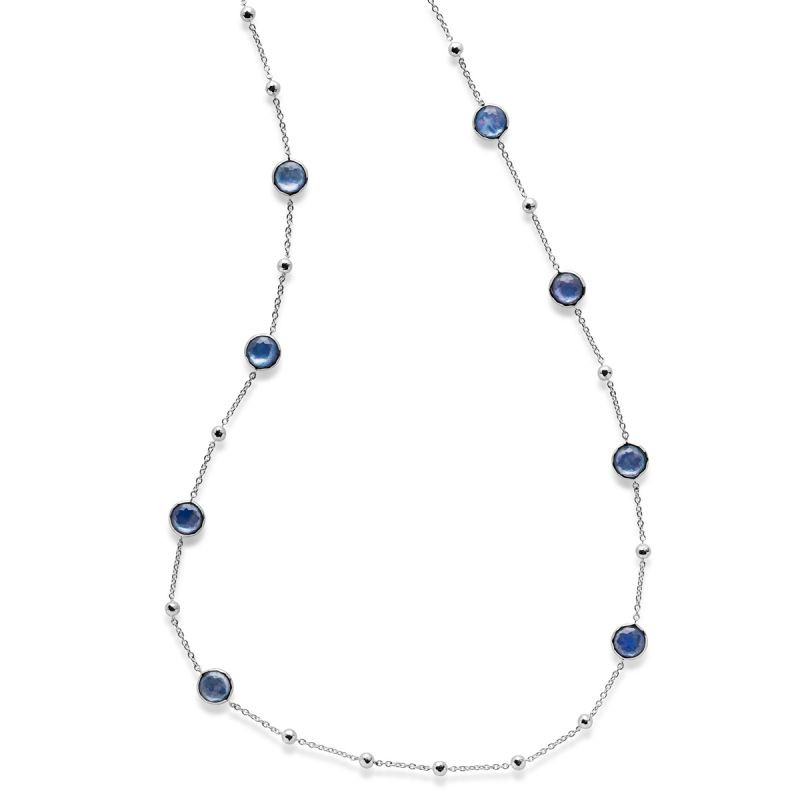 IPPOLITA Silver Lollipop Blue Gemstone Station Necklace
